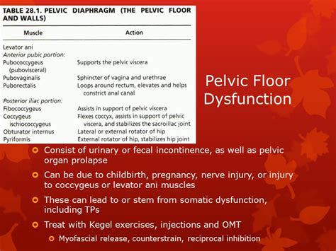 omt for common gynecologic disorders ppt