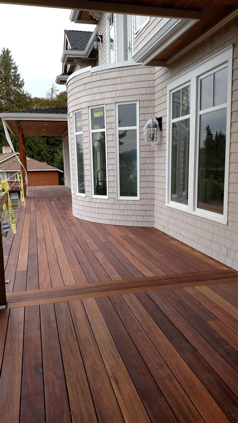 mahogany decking applied with penofin hardwood exterior stain quot ipe quot color applied with