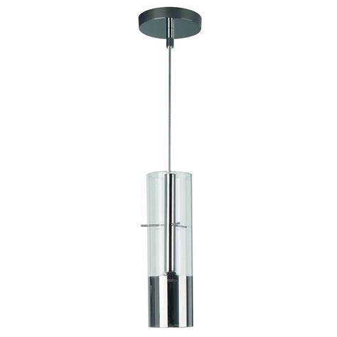 philips tubuled 1 light chrome led hanging pendant 407151148 the home depot