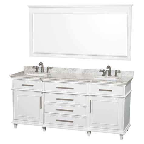 shop wyndham collection berkeley white undermount sink bathroom vanity with