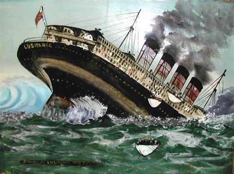 lusitania titanic painting on glass