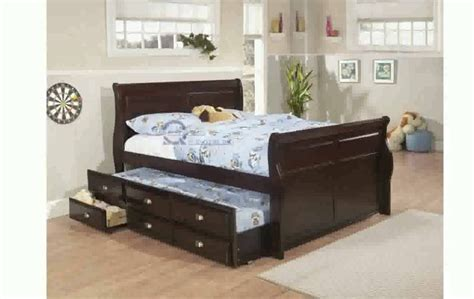 best of size bed with trundle and storage design