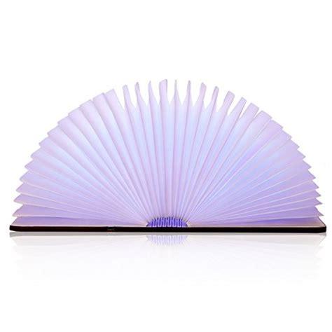 amzdeal le d ambiance led 500 lumens en forme de livre pliante 2500mah avec multicouleur