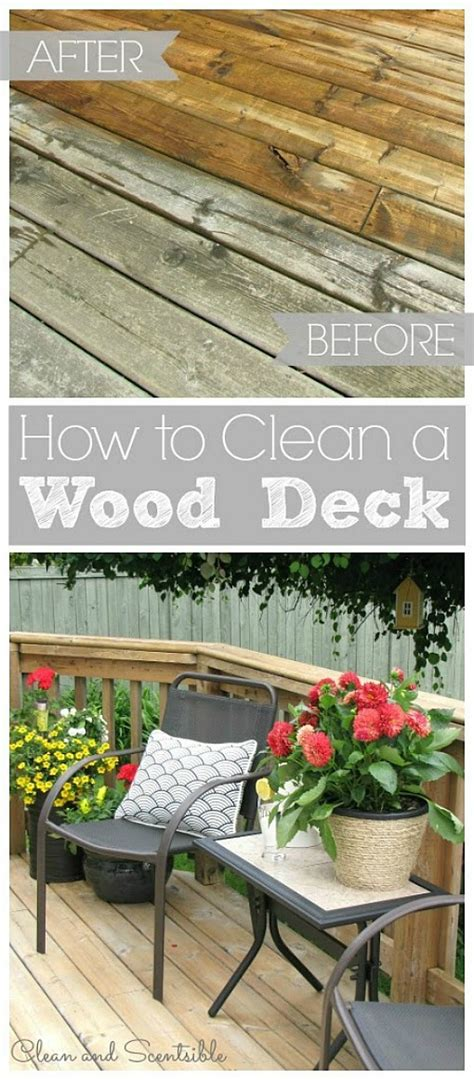how to clean your wood deck clean and scentsible