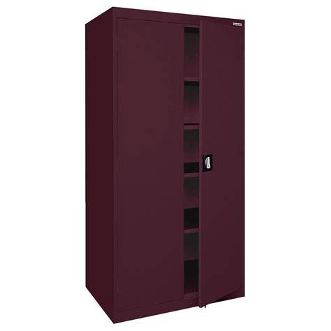 sandusky elite series 72 in h x 36 in w x 18 in d 5 shelf steel recessed handle storage