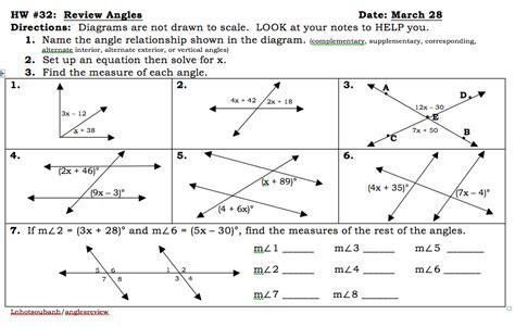 All Worksheets » Angle Relationships Worksheets  Printable Worksheets Guide For Children And
