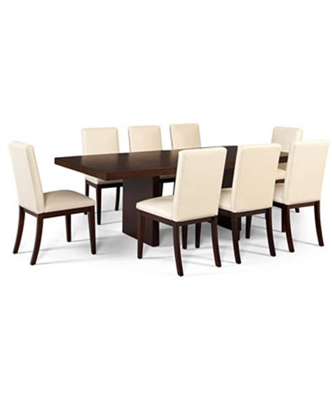 corso dining room furniture 9 set table and 8 white chairs furniture macy s