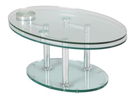table basse de salon en verre trempe ezooq