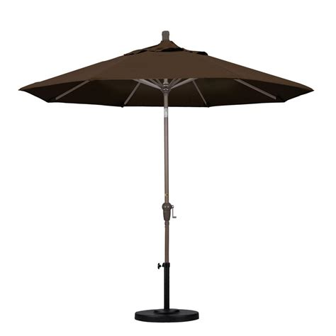 california umbrella 9 ft aluminum auto tilt patio umbrella in mocha pacifica sdau908900 sa32