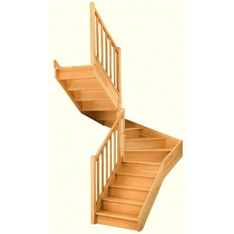 escalier soft quart tournant interm 233 diaire gauche h274 re classic bois leroy merlin