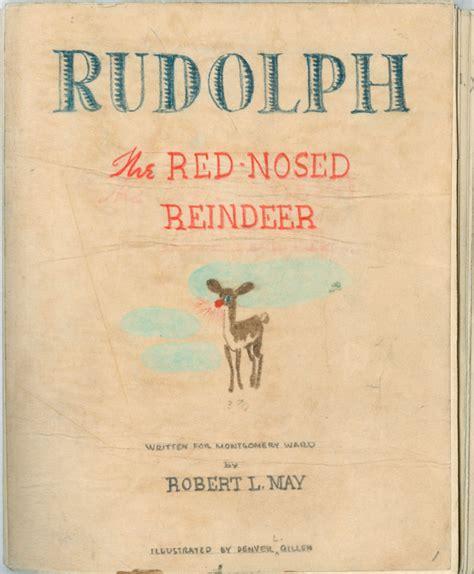 a story l writing rudolph the original nosed manuscript npr