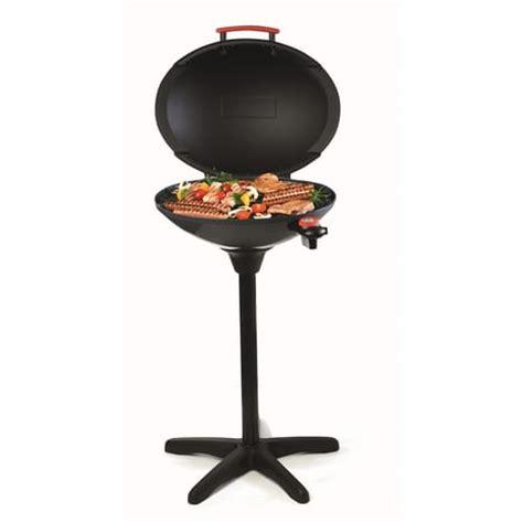barbecue electrique df3106c noir sur pieds 2200w qilive