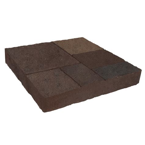 oldcastle avellino 16 in x 16 in autumn blend concrete paver 12100099 the home depot