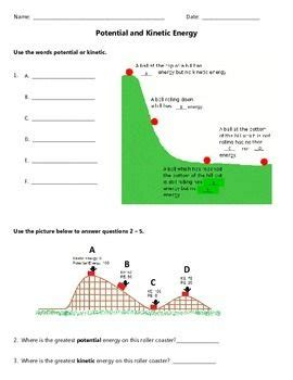 Potential And Kinetic Energy  Worksheets, Jewel And Check