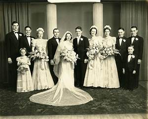 My Grandparents wedding. April 19, 1941. He died in 1986 ...