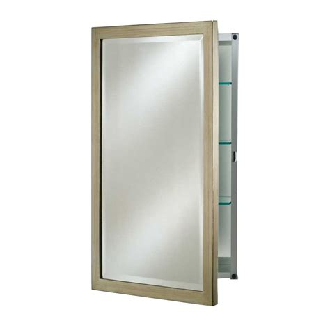 afina basix 20 quot mirrored medicine cabinet brushed silver sd 2026 r bsx bs j keats