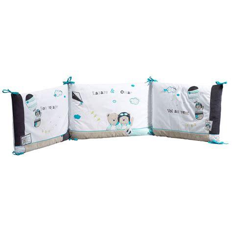 lazare tour de lit bleu de sauthon baby d 233 co tours de lit aubert