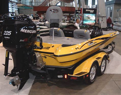 Skeeter Bass Boat Control Panel by This Bright Yellow Triton Really Stood It Their Booth Was