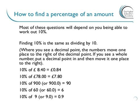 Percentage Of An Amount
