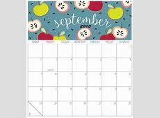 September 2018 Calendar for Kids Printable Office