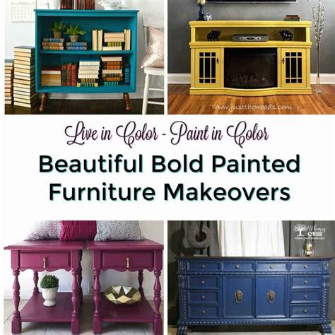 The Best Bold Painted Furniture Makeovers  Live In Color