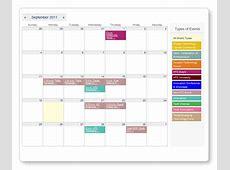Professional Event Management Website Calendar & Event