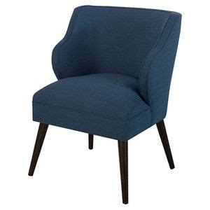 threshold mid century accent chair navy apartment