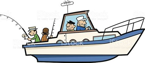 Fishing Boat Art by Cartoon Fishing Boat Clipart Clipground