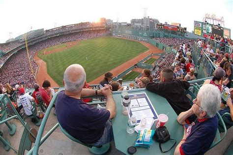 view from the budweiser roof deck at boston s fenway park will travel for sports
