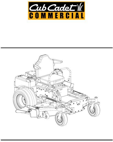 cub cadet lawn mower 23hp user guide manualsonline