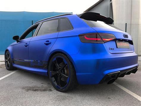 Folierung In Chrom Blau Am Audi Rs3-550 By Bb-folien