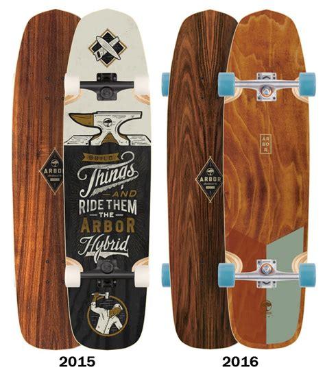 arbor koa hybrid longboard skateboard deck deck only boards on nord