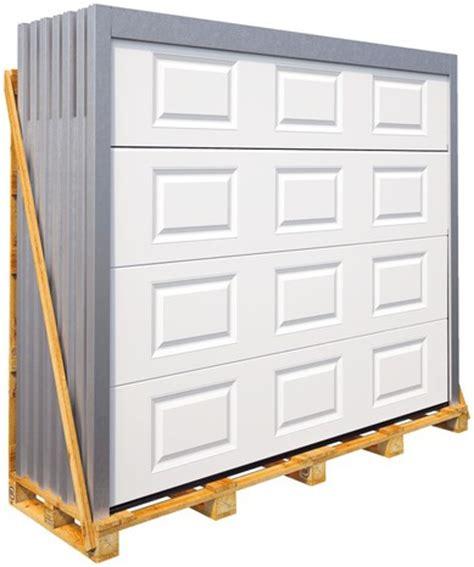 porte de garage sectionnelle motoris 233 e en acier h 200 cm l 240 cm blanche brico d 233 p 244 t