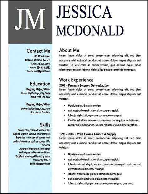free modern resume templates microsoft word free sles exles format resume