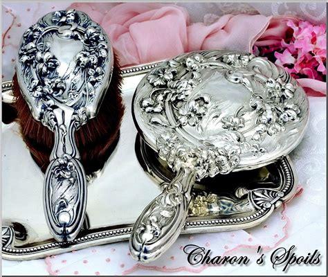 antique sterling silver 2 pc vanity dresser set la nouveau from charonsspoilsantiques