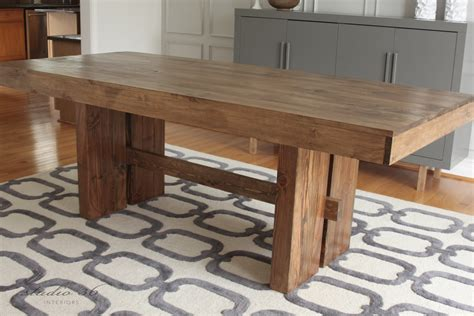 West Elm Inspired Solid Wood Dining Table For $