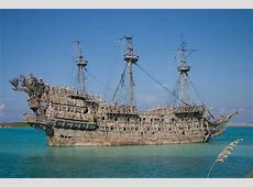 Pirate ship in the Castaway Cay Bahamas