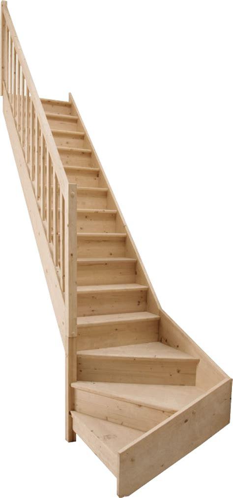 escalier quart tournant bas en sapin bricoman les nouveaux entrepreneurs