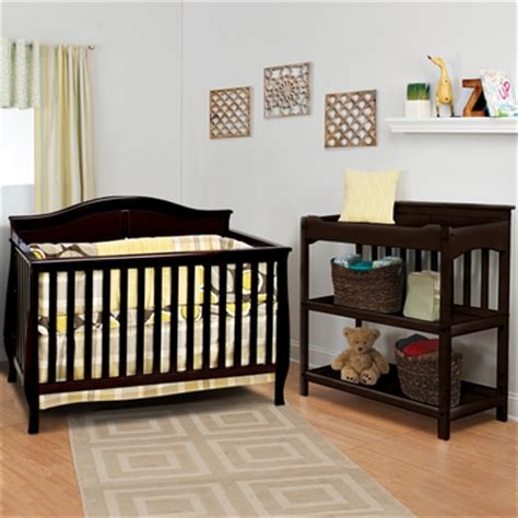 child craft 2 nursery set camden 4 in 1 convertible crib and flat top dressing table in
