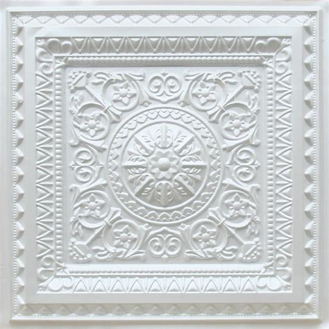 d223 pvc faux tin drop in ceiling tile 2x2 white pearl qty of 6 mediterranean ceiling tile