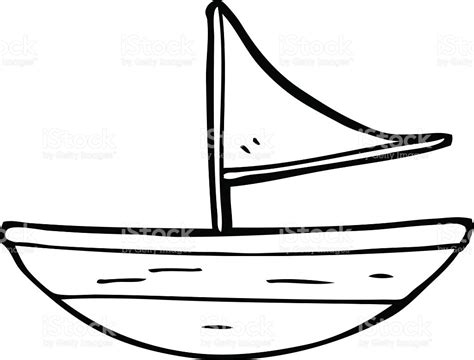 Cartoon Drawing Of A Boat by Drawn Sailboat Cartoon Pencil And In Color Drawn
