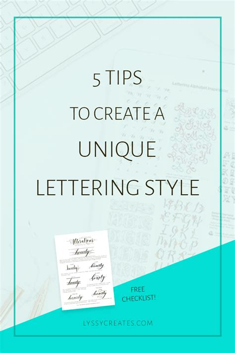 5 Tips To Create A Unique Lettering Style (+ Free
