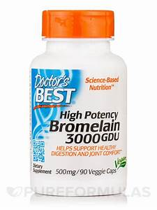 3000 GDU Bromelain 500 mg (High Potency) - 90 Veggie Capsules