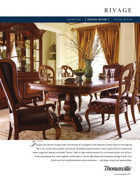 thomasville rivage dining room china to get and dining rooms