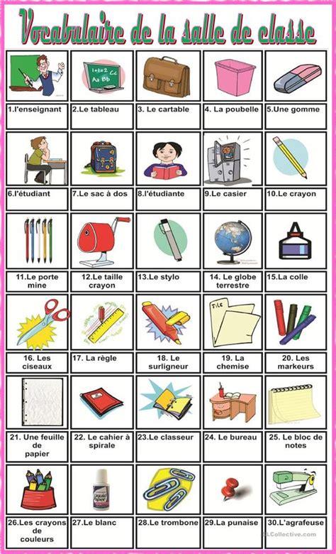 vocabulaire de la salle de classe fiche d exercices fiches p 233 dagogiques gratuites fle