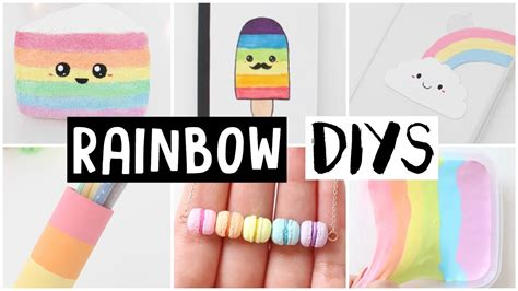 Nim C Home Decor : 6 Amazing Rainbow Diys! Easy & Cute Ideas!
