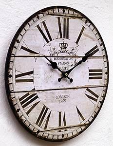 Wanduhr Vintage Weiß : lilienburg wanduhr k chenuhr vintage wei schwarz antik k 33 cm 2 redidoplanet ~ Markanthonyermac.com Haus und Dekorationen