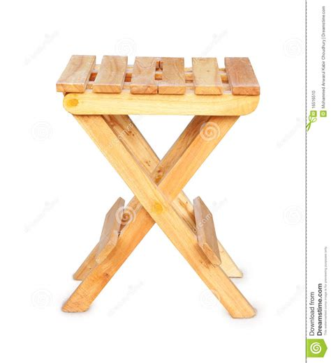 tabouret se pliant en bois photo stock image 16516510