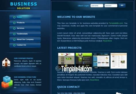 Corporate Business Css Website Template Free Download