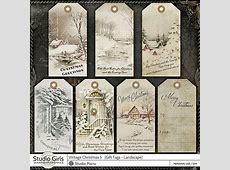 Old Fashioned Vintage Christmas Gift Tags + Photobook